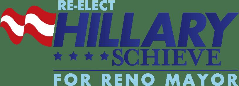 Re-elect Hillary Schieve Logo